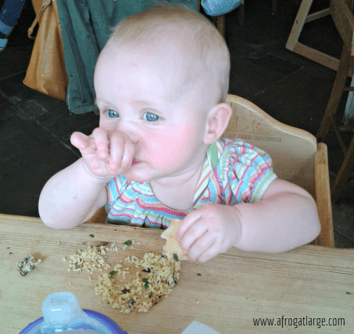 toddler eating couscous