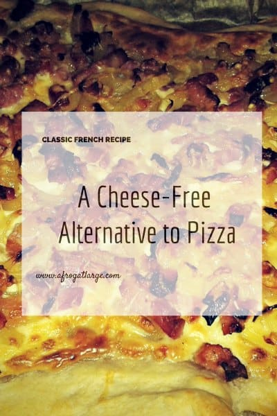 A cheese-free alternative to pizza