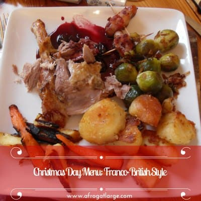 Christmas Day Menu, Franco-British Style