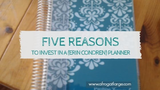 Five reasons to invest in a (Erin Condren) planner