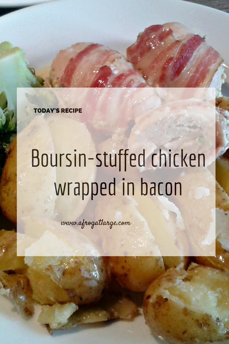 Boursin-stuffed chicken wrapped in Bacon